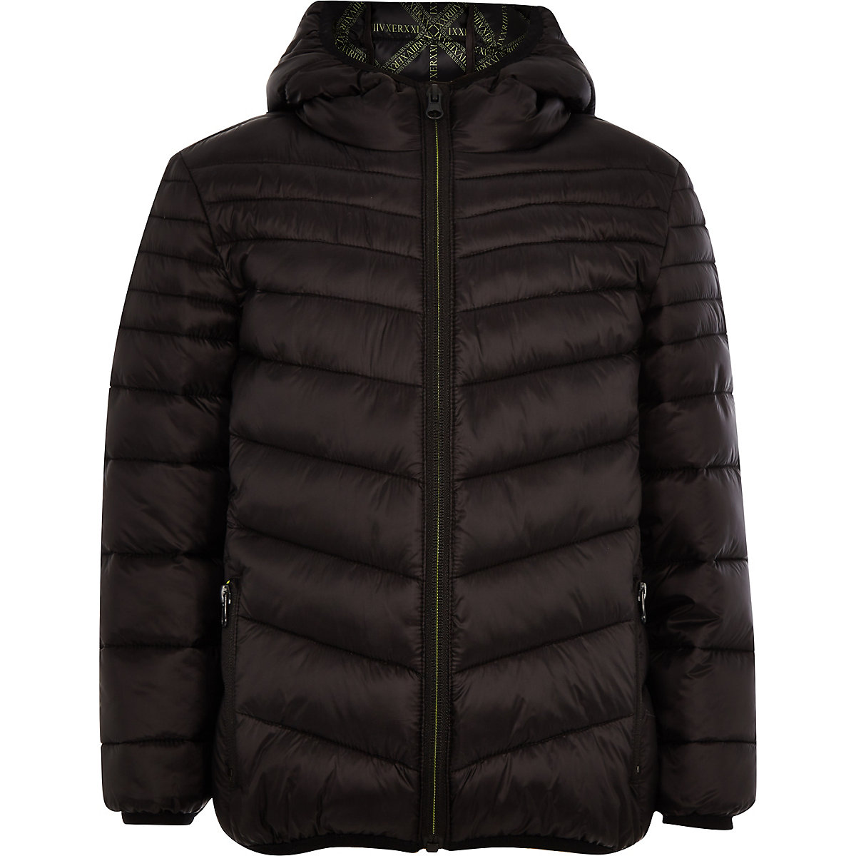 Boys black padded puffer jacket