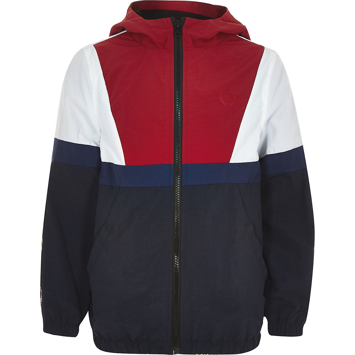 Boys navy 'atelier' lightweight track jacket