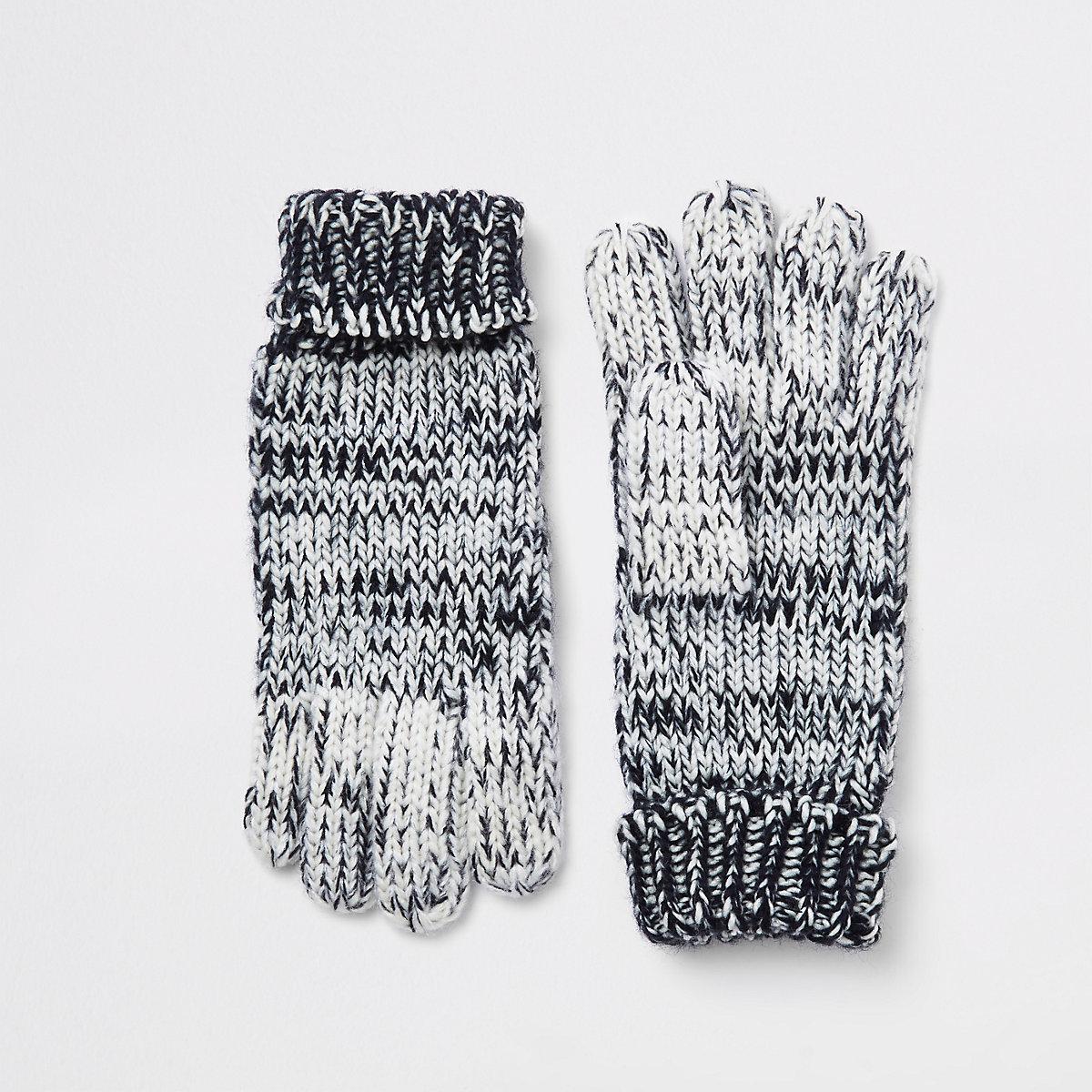 Gants en maille bleu marine en dégradé pour garçon - Écharpes gants ... f1279cf4a8e