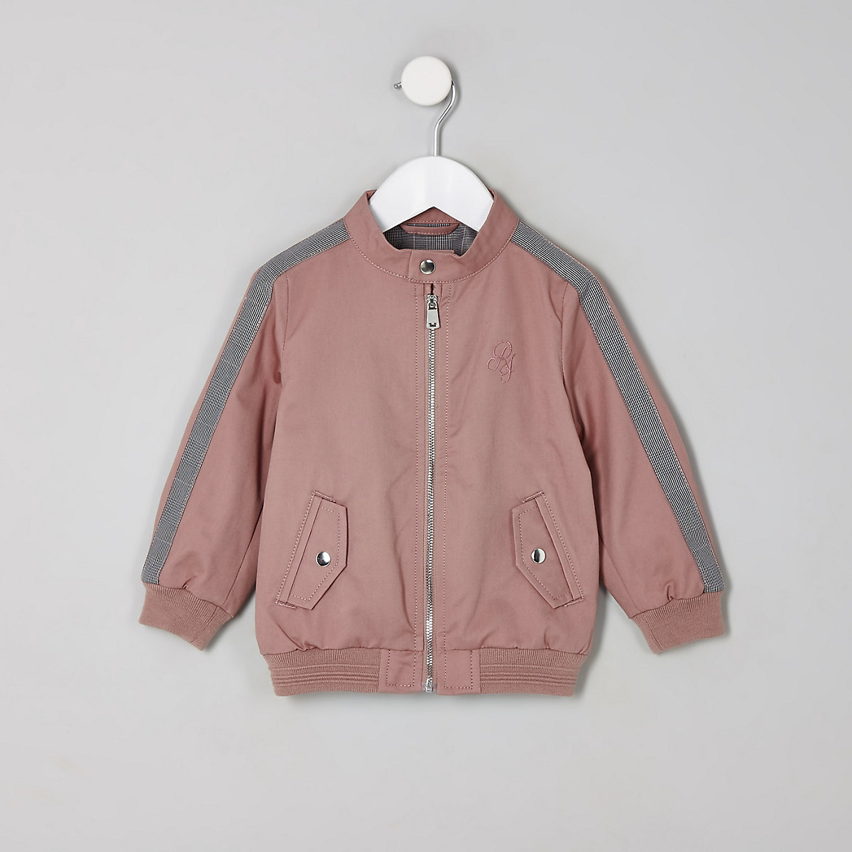 Mini boys pink RI bomber jacket