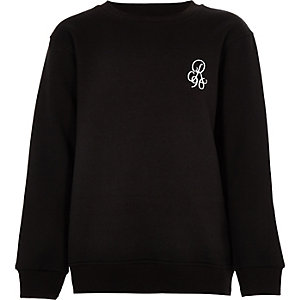 Sweat noir à inscription « R96 » pour garçon