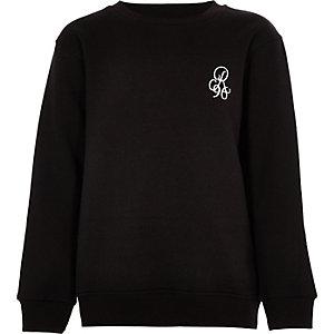 Zwart sweatshirt met 'R96'-print voor jongens