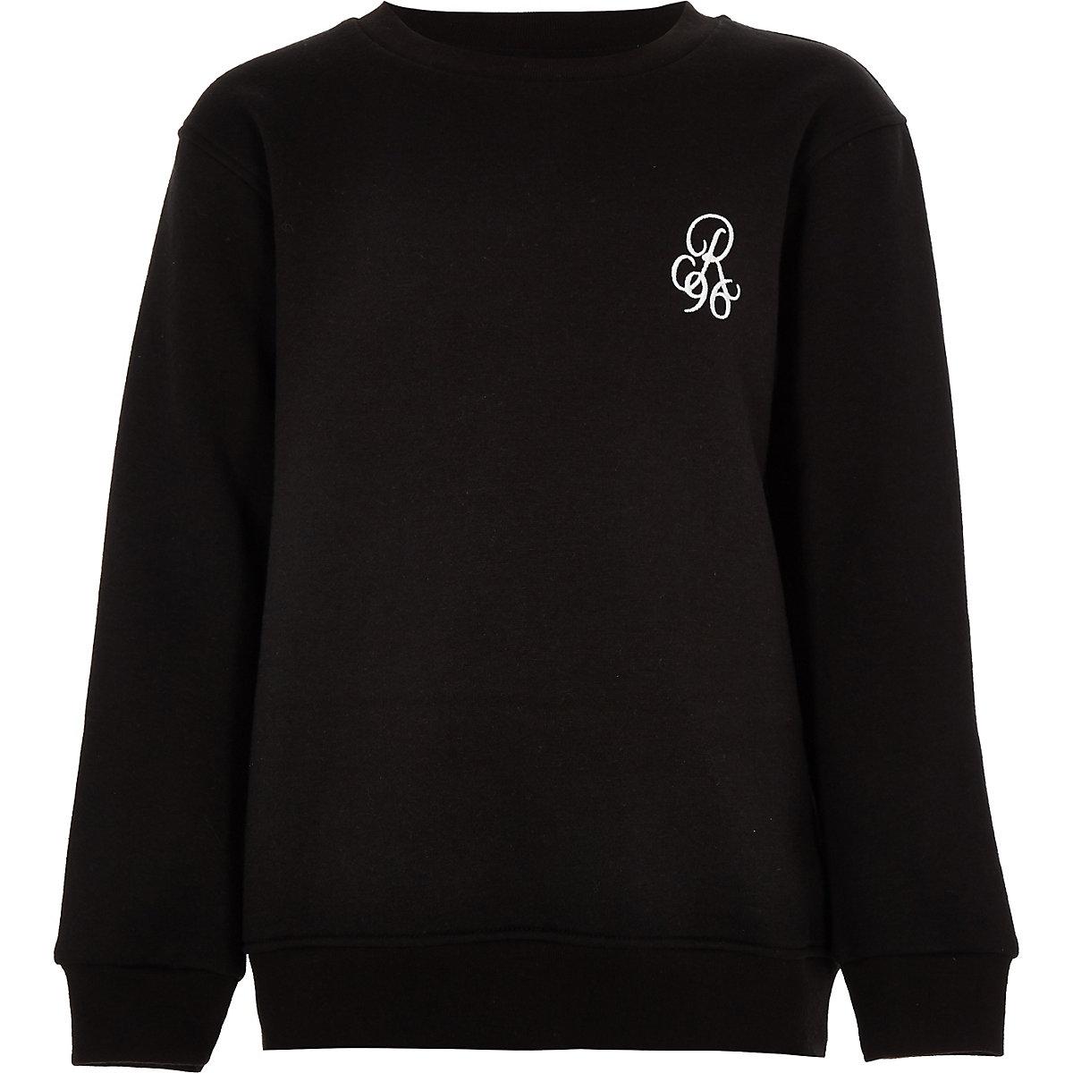 Boys black 'R96' sweatshirt