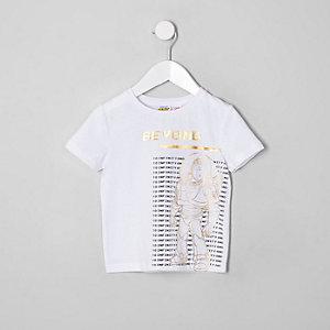 Mini - Wit T-shirt met 'Toy Story'-folieprint voor jongens