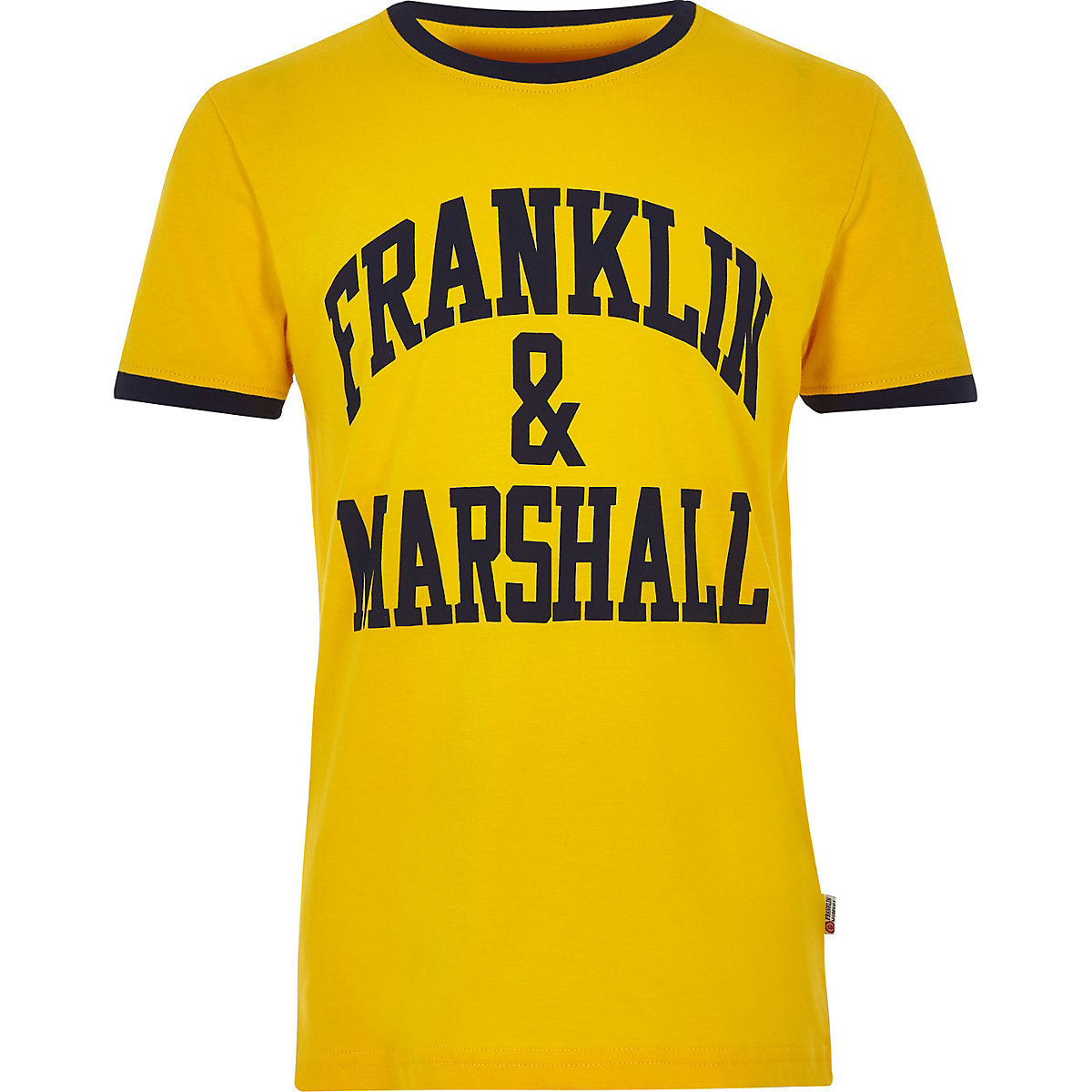Boys yellow Franklin & Marshall logo T-shirt