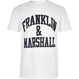 Franklin & Marshall – T-shirt blanc à logo pour garçon