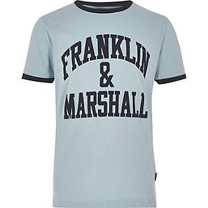 Franklin & Marshall – Blaues T-Shirt mit Logo