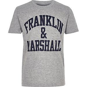 Franklin & Marshall – Graues T-Shirt mit Logo