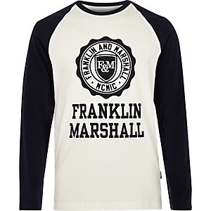 Boys white Franklin & Marshall raglan T-shirt