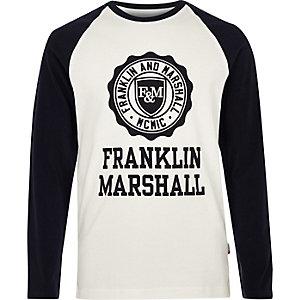 Boys white Franklin & Marshall raglan T-shirt