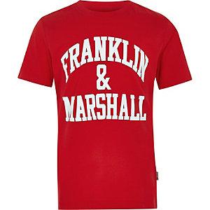 Franklin & Marshall – Rotes T-Shirt mit Logo