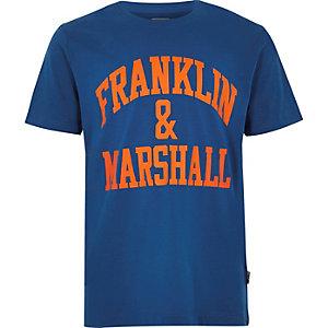 Franklin & Marshall – T-shirt bleu à logo pour garçon