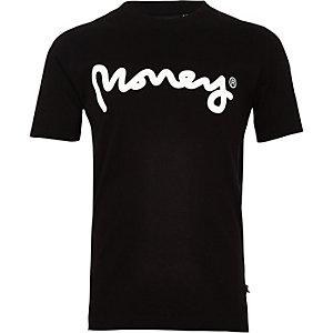 Money Clothing – Schwarzes T-Shirt mit Logo