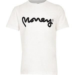 T-shirt blanc logo Money Clothing garçon