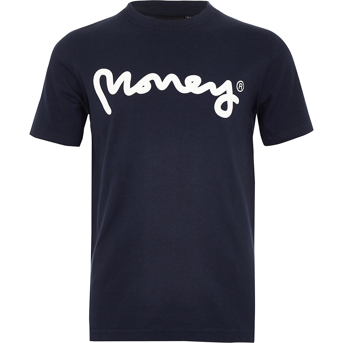 Boys navy Money Clothing logo T-shirt
