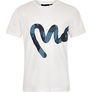 Money Clothing - Wit T-shirt met groot logo voor jongens