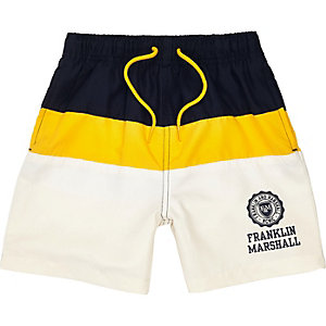 Boys navy Franklin & Marshall swim trunks