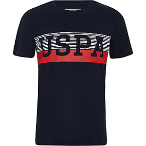 Boys navy U.S. Polo Assn. T-shirt