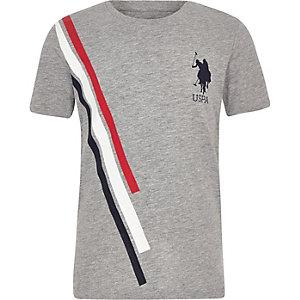 U.S. Polo Assn. – T-shirt rayé gris pour garçon