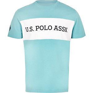 U.S. Polo Assn. - Blauw T-shirt met kleurvlakken voor jongens