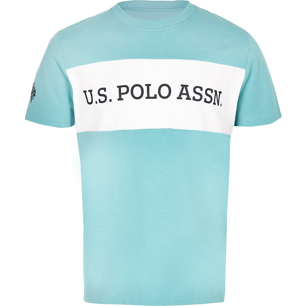 Boys blue U.S. Polo Assn. block T-shirt