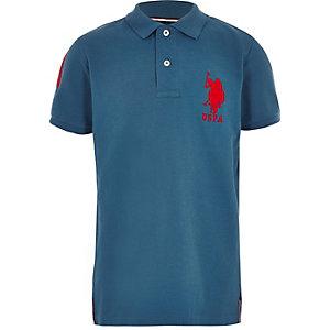 U.S Polo Assn - Blauw poloshirt voor jongens