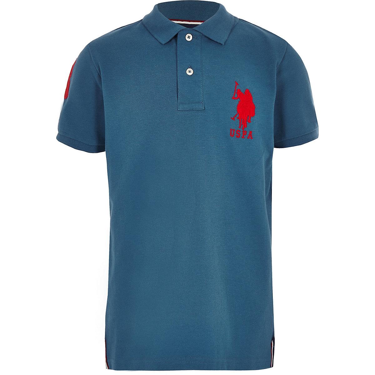 Boys blue U.S. Polo Assn polo shirt
