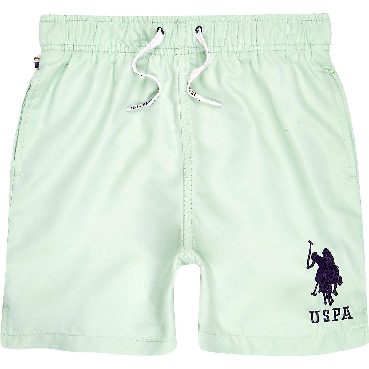 Boys U.S. Polo Assn. blue swim trunks