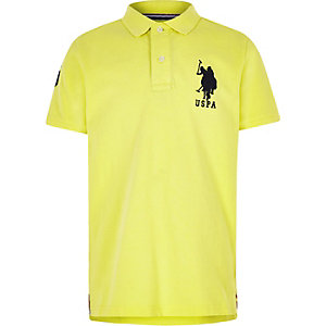 Boys yellow U.S. Polo Assn. polo shirt