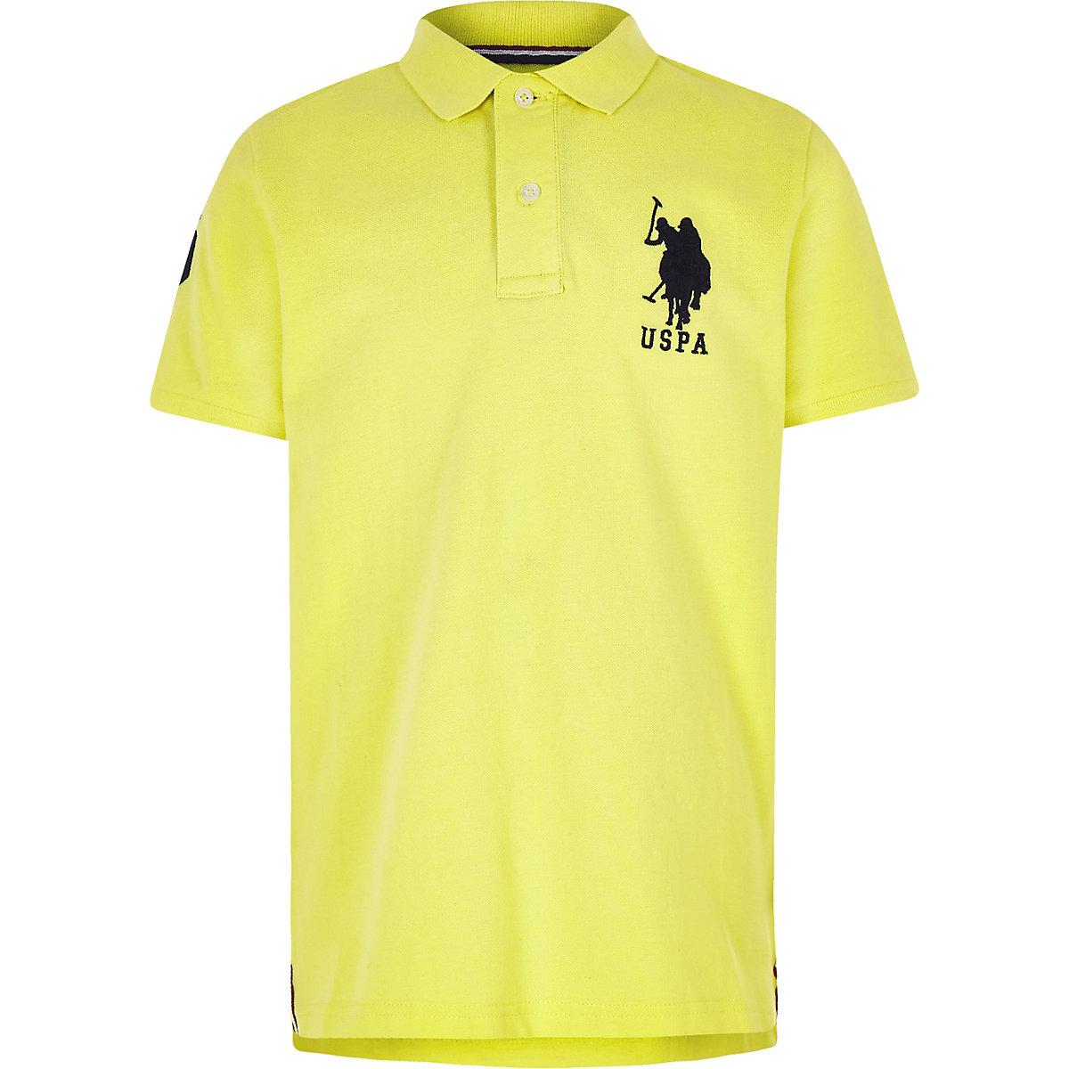 Boys yellow U.S. Polo Assn. polo shirt