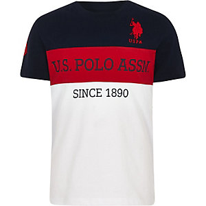Boys navy U.S. Polo Assn. block T-shirt