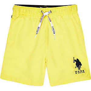 Boys yellow U.S. Polo Assn. swim shorts