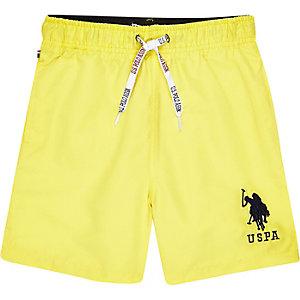 U.S. Polo Assn. – Gelbe Badeshorts