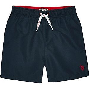 U.S. Polo Assn. – Short de bain bleu marine pour garçon
