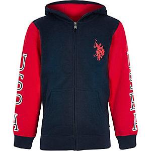 Boys navy U.S. Polo Assn. zip hoodie