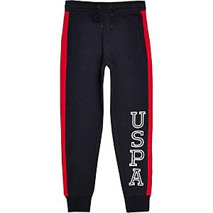 U.S. Polo Assn. – Pantalon de jogging bleu marine pour garçon