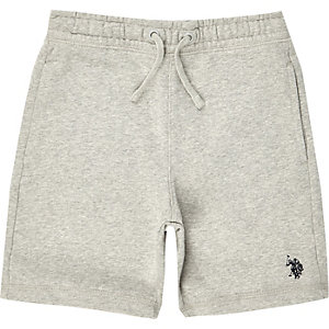 Boys grey U.S. Polo Assn. jersey shorts
