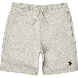 U.S. Polo Assn. – Short en jersey gris pour garçon