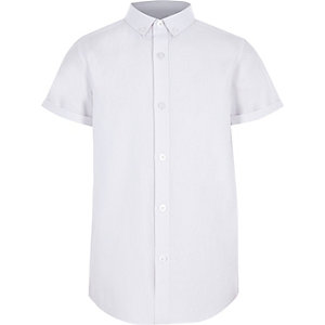 Boys white RI short sleeve shirt