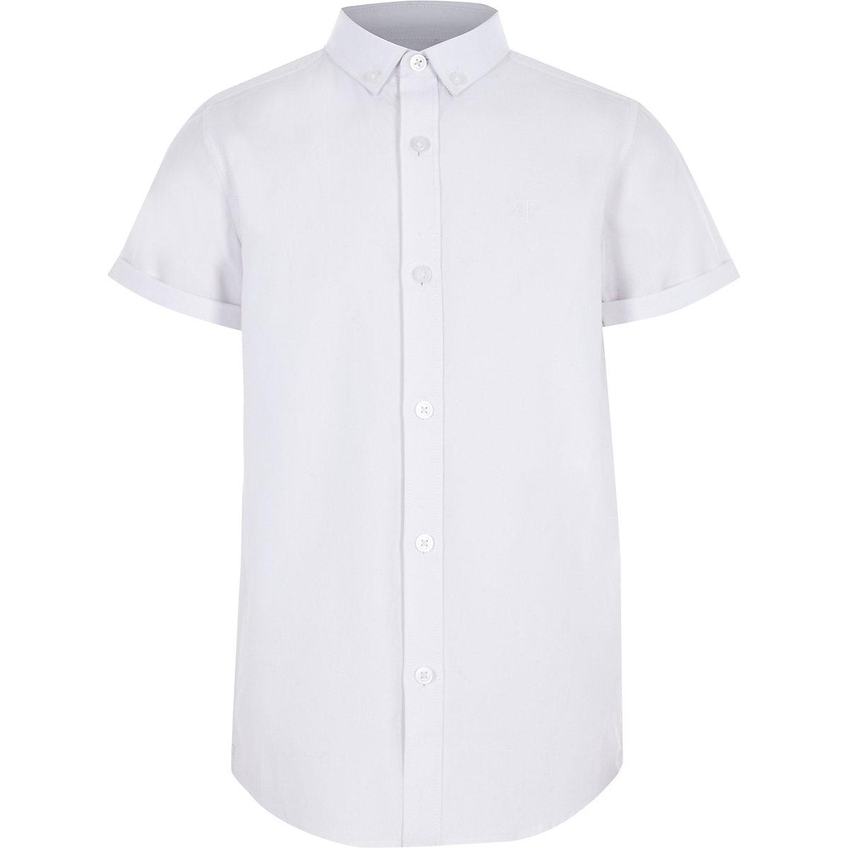 Boys white RI short sleeve shirt