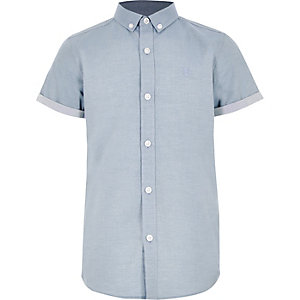 Boys blue RI short sleeve shirt
