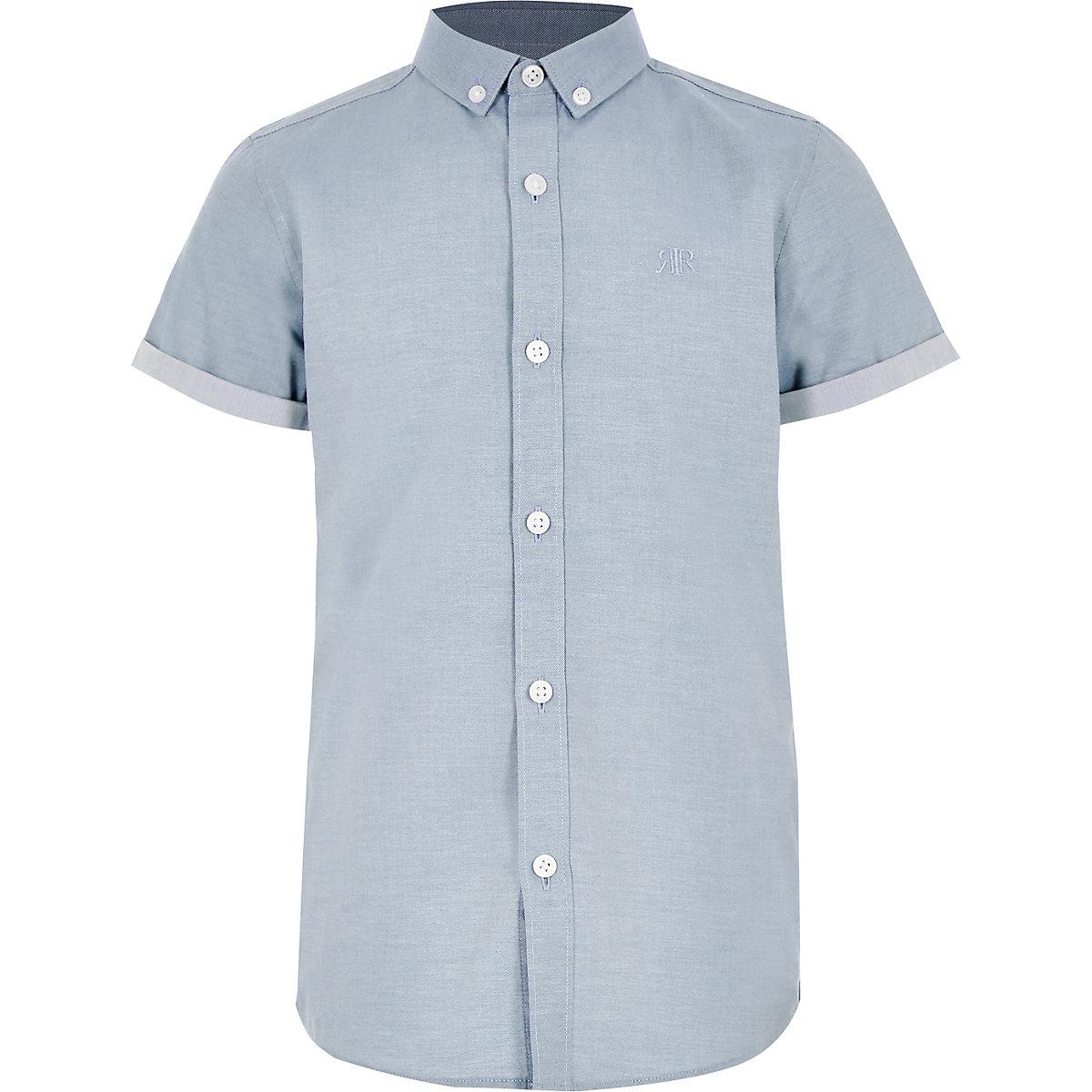 Blaues Kurzarmhemd