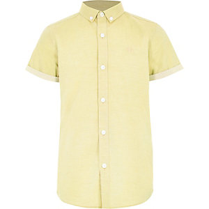 Boys yellow RI short sleeve shirt