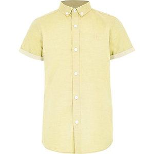 Geel overhemd met RI-logo en korte mouwen voor jongens