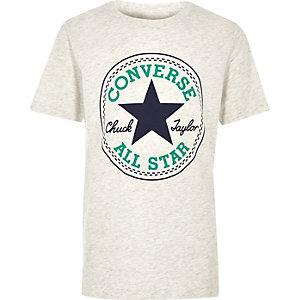 Converse - Wit T-shirt met logo voor jongens