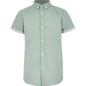 Chemise RI verte à manches courtes pour garçon