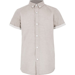 Boys light pink RI short sleeve shirt