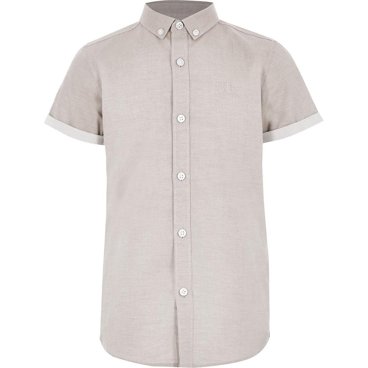 Boys stone RI short sleeve shirt