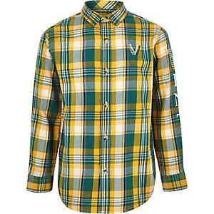 Chemise à carreaux verte Venti pour garçon