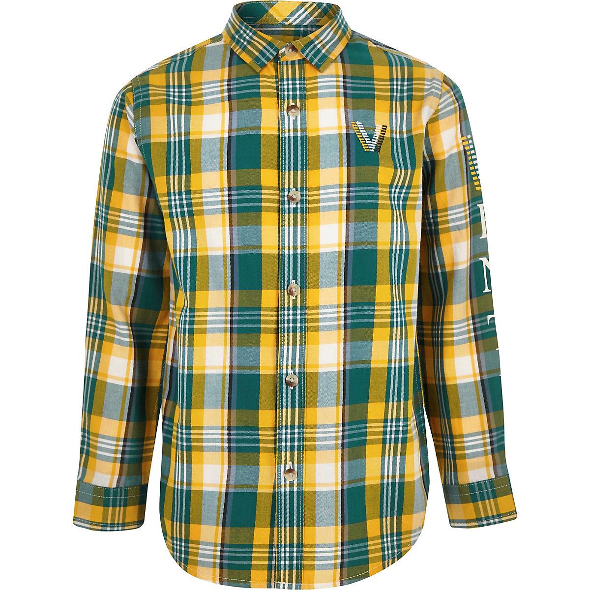Groen Geruit Overhemd.Groen Geruit Overhemd Voor Jongens Overhemden Met Lange Mouwen
